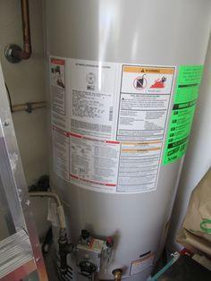 40 gallow water heater in garage