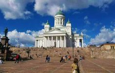 The Helsinki Cathedral, Finland.