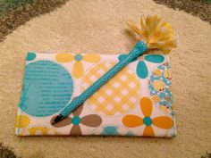 Check book cover cozy with matching pen by SewNthat on Etsy