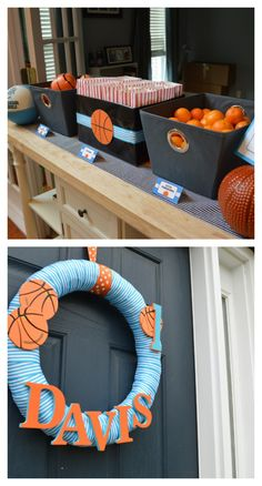 boys first birthday party; basketball theme; diy; cake pops; basketball cake