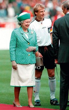 The Queen 1996 The Queen at Wembely Stadium attending the Euro Final between Czech Republic and Germany.