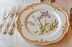Esta louça foi usada em um jantar na casa de Isobel Crawley, mãe de Matthew.