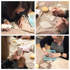 So much fun was had in our Porcelain Ornament Workshop today with visiting artist Cynthia Vardhan! Look for more porcelain workshops with Cynthia in 2017!