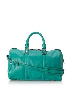 f74a27fc4a09 Chocolat Blu Women s Convertible Leather Satchel (Bright Emerald) Leather  Satchel