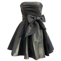 Black Bow Mini Prom Dress - Cocktail Dresses - Women's Wear ❤ liked on Polyvore