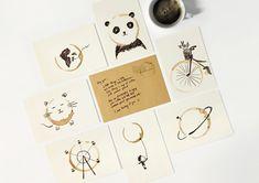 Уникальные открытки с привкусом кофе