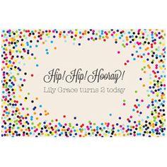 Celebration Confetti Personalized Paper Placemats @Layla Grayce #laylagrayce #entertaining