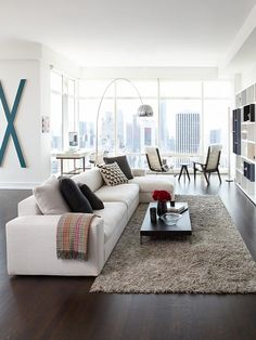 Anchoring Living Space & Viewing Space -- Details, Details, Details in Contemporary Condo Living from HGTV