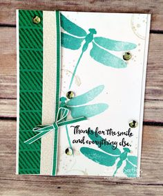 Sootywing Studios: Dragonfly Dreams Display samples, Stampin' Up!, OnStage 2016, Occasions 2017, Thank you card