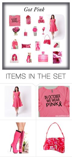 """Got Pink"" by arlenesboutique ❤ liked on Polyvore featuring art"