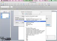 Ladybug's Teacher Files: Creating Default Templates in Powerpoint