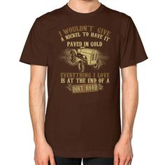 Farmer EVENTHING I LOVE Unisex T-Shirt (on man)