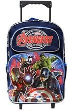 """Avengers Age of Ultron Large 16"""""""" Cloth Rolling Backpack - Dark Blue"""