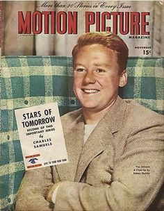 "Van Johnson on the cover of ""Motion Picture"" magazine, USA, November 1945."