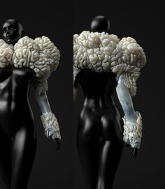 Neri Oxman - Wanderers on ID Magazine In this project we collaborated with artist, scientist, researcher Prof. Neri Oxman from the MIT Media Lab and the Mediated Matter Group to create four grown and 3d printed wearables.