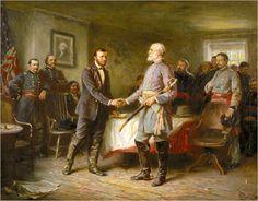 """John Leon Gerome Ferris' famous depiction of the surrender of Appomattox, """"Let Us Have Peace"""""""