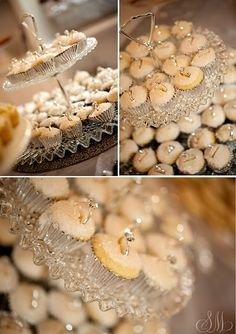 bling mini cupcakes - adorable for a bridal shower