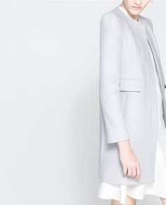 ZARA - WOMAN - COAT WITH GATHERING ON THE SHOULDER