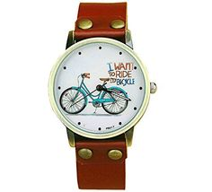 Vintage Cute Bicycle watch Women's Simple Elegant Bicycle Pattern Watches Brown holiday gifts more time http://www.amazon.com/dp/B018S9DVG4/ref=cm_sw_r_pi_dp_LUv6wb0W8399P