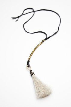 12 Tassel Necklaces With Loads Of Fringe Benefits #refinery29  http://www.refinery29.com/tassel-necklaces#slide8