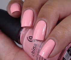 China Glaze:  ★ Feel The Breeze ★  China Glaze Off Shore Collection Summer 2014. Pink nail polish.