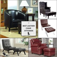 Leather Chair And Ottoman Chair And Ottoman, Sofa Chair, Dark Brown Leather, Recliner, Sofas, Accent Chairs, Furniture, Home Decor, Chair