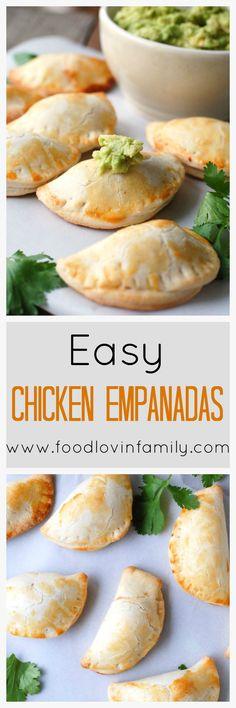 Easy Chicken Empanadas are a pocket full of flavor. The perfect party treat for football, basketball, Cinco de Mayo and more.   http://www.foodlovinfamily.com/easy-chicken-empanadas/