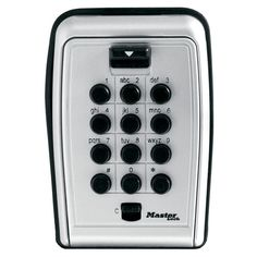 Master Lock Lock Box, Set Your Own Combination Push Button Wall Mount Key Safe, in. Wide, at List for Home and Garden Products - 3 18 inch wide durable metal construction large internal cavity and removable key hook prevents jamming Lock Set, Key Lock, Security Tips, Safety And Security, Security Products, National Preparedness Month, Hide A Key, Key Safe, Combination Locks