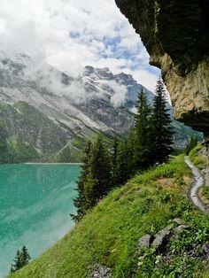 paganroots:    Trail along Öschinensee, Switzerland by Feffef