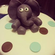 Fondant elephant topper I made