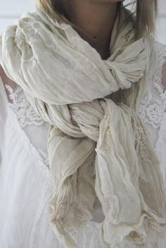 cream white scarf