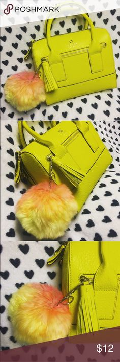 Ombré Fur Ball Charm NWOT 👌🏼 Jumbo pom pom is super cute for any handbag, backpack or set of keys! Amazing shades of pink, orange and yellow ✨ Disclaimer: Listed as Kate Spade for exposure 🙈 MORE COLORS IN MY CLOSET ❤️💛💚💙💜 10% bundles of 2+ 😉 🔊 Kate spade handbag is NOT for sale🔊 kate spade Accessories