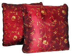 Embroidered Faux Silk Pillows
