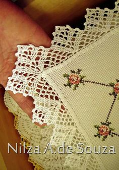 Crochet lace edging, 3 rows st