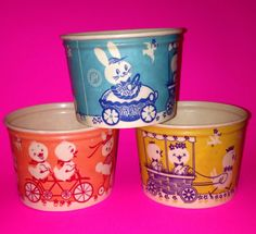 3 Vintage Easter Wax Containers by thewickedpumpkin on Etsy, $18.00