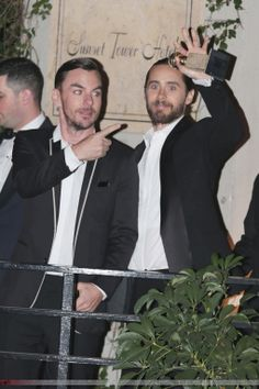 Shannon and Jared.-  Outside Sunset Tower - Los Angeles.- 12-01-2014