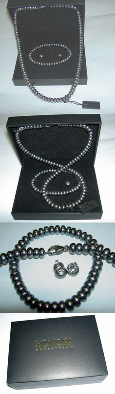 Pearl 164327: Honora Freshwater Peacock Tahitian Black Pearl 4 Necklace Bracelet Earrings Nib -> BUY IT NOW ONLY: $58 on eBay!