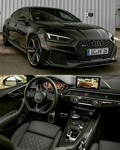 Audi Rate this car! Tag someone who needs to see this . Audi Rs5, Audi Supercar, Audi S5 Sportback, Carros Audi, Porsche 918 Spyder, Porsche Cars, Black Audi, Black Cars, Pink Jeep