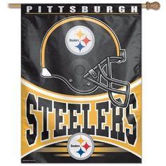 Pittsburgh Steelers Vertical Indoor or Outdoor Flag