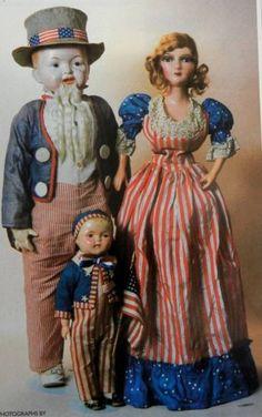 3 VTG Research Articles + Pics -  Antique Patriotic Dolls History