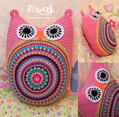 Free Crochet Owl Cushion Pillow Pattern : 1000+ images about Eclectic Crochet Crafts by Roxy on ...