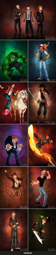 Disney Princes and Princesses Dress in Pop Culture Costumes