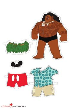 Dress your favorite characters from the new Disney classic Moana with these great paper dolls from Costume Discounters. Disney Paper Dolls, Paper Dolls Book, Paper Toys, Paper Crafts, Moana E Maui, Moana Boat, Moana Birthday Party, Moana Party, Disney Diy