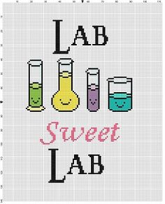 Lab Sweet Lab Funny Office Work Cross Stitch Pattern - Instant Download by SnarkyArtCompany on Etsy