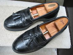 Vintage Allen Edmonds Mens Black Loafers by VintageClassicWares, $60.00