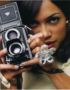Rosario Dawson. everyone says she looks like my mother.