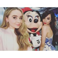 sofia carson | Sabrina Carpenter and Sofia Carson with Minnie Mouse