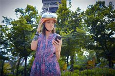 Are you ready to film the beautiful scenery? So wear the new Airwheel C5 smart helmet and matches chasing emotions! #paris #travel #smart #airwheel #technology #free #intelligent #life