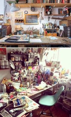 design ideas: illustrator Oliver Jeffers' New York home - in pictures Jeffers' studio, in Cobble Hill. It enables him and Suzanne to cut off from work…Jeffers' studio, in Cobble Hill. It enables him and Suzanne to cut off from work… Home Art Studios, Art Studio At Home, Artist Studios, Deco Studio, Studio Design, Quirky Art, New York Homes, Studio Organization, Space Crafts