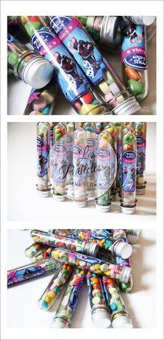 Tubos Golosieros Personalizados. Temática:Frozen #tubos #golosinas #candybar #minirocklets #pastillas #party #souvenir #Frozen